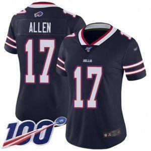 Women Bills Josh Allen 100th Season Jersey (1)